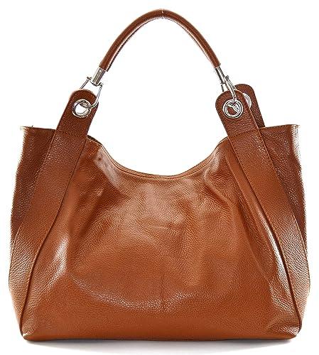 37ec6e3b92 OH MY BAG Sac à main en cuir Paris cognac fonce: Amazon.fr ...