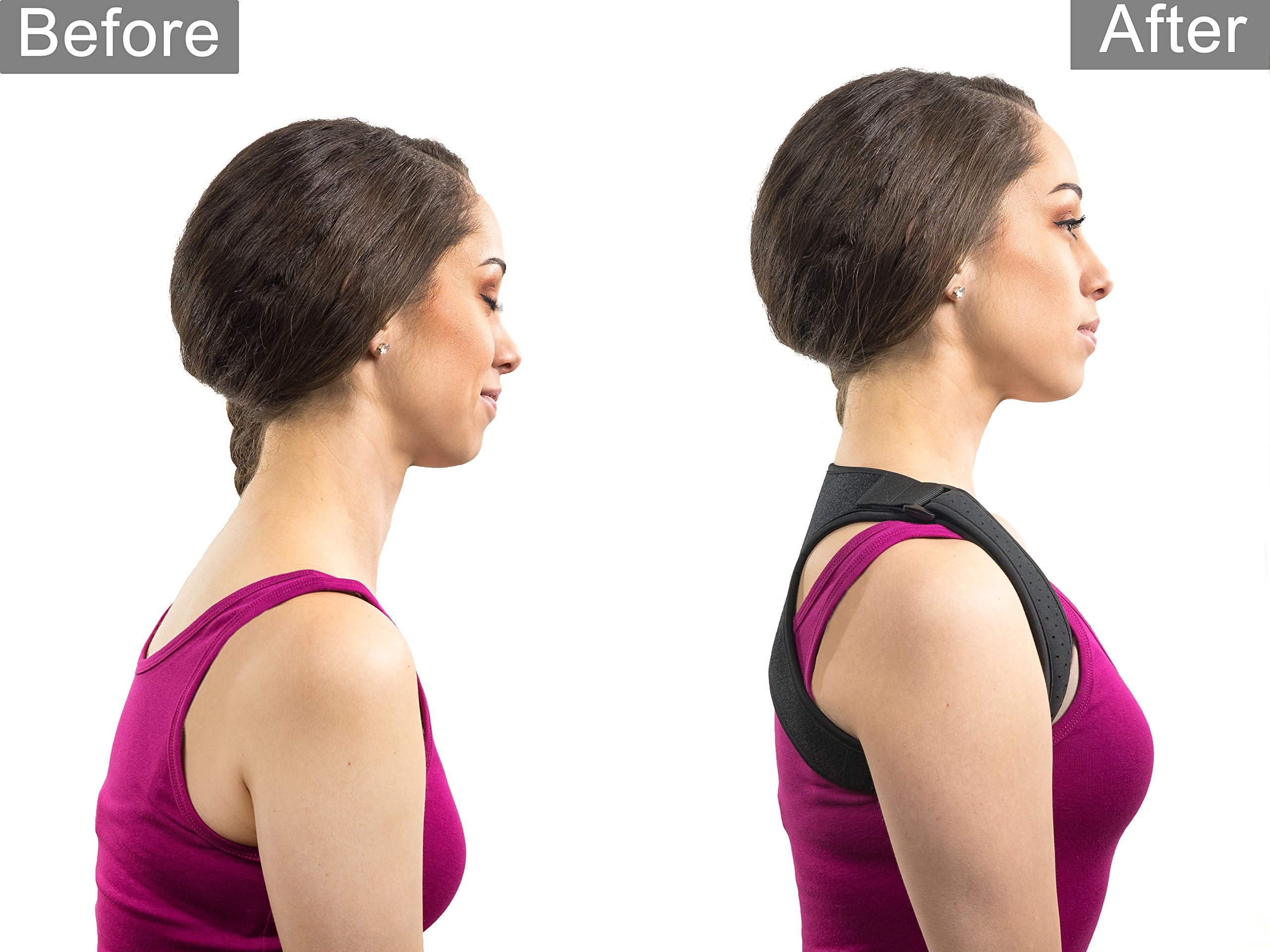 Apex Brace Posture Corrector for both Men & Women - Comfortable and Easily Adjustable Shoulder Support - Chest Support - Provides Upper Back Pain Relief – Improves Bad Posture by Apex Brace (Image #4)