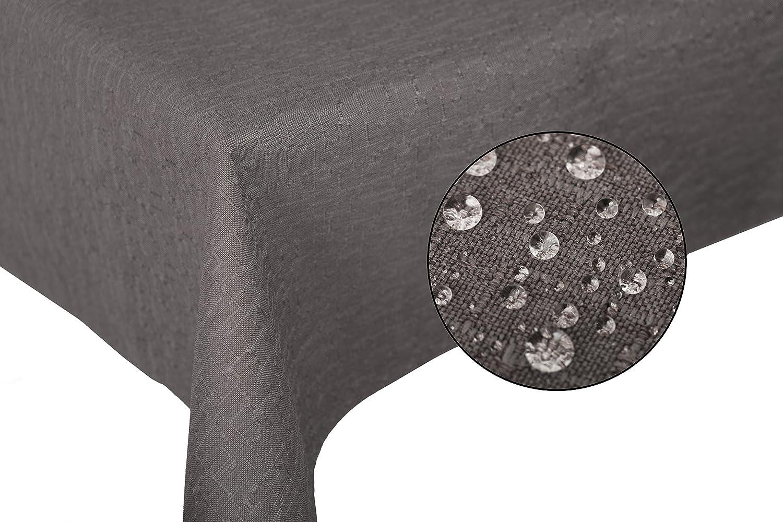 ZOLLNER® Mantel Antimanchas Grande/Mantel para Mesa Rectangular, 140x180 cm, fácil de Limpiar, 100% poliéster, Gris Antracita, Disponible en Otros ...