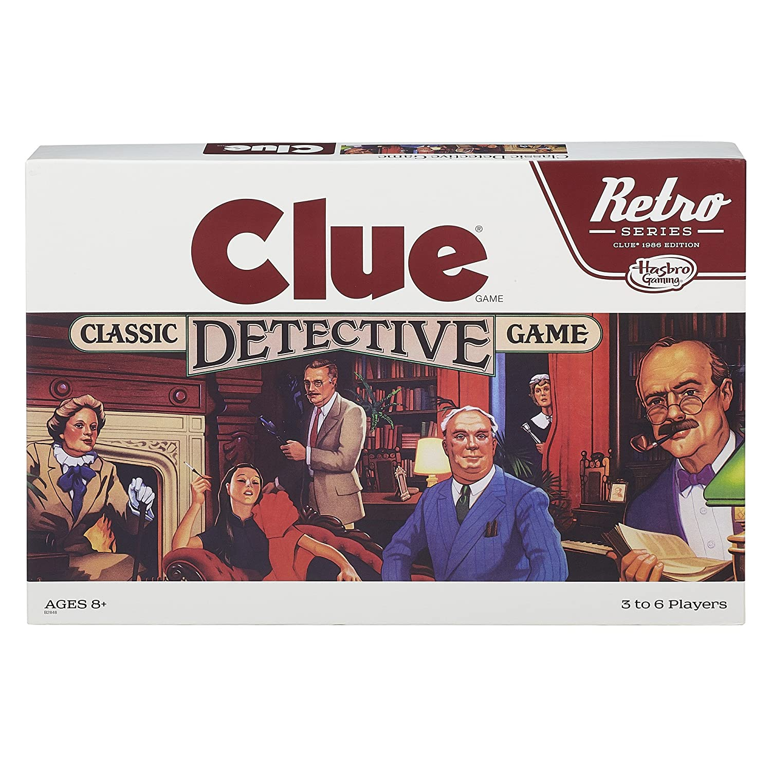 Retro Series Clue 1986 Edition Game Hasbro B2848