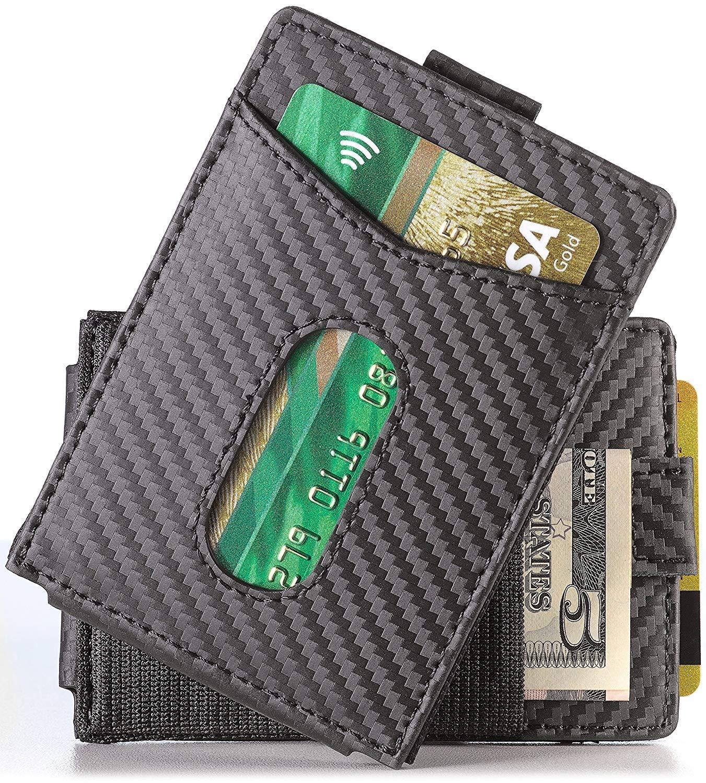 Slim Money Clip Wallet EDC Front Pocket Card Holder Minimalist RFID Sleeve Wallet