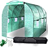 BACKYARD EXPRESSIONS Patio · Home · Garden 911219 Greenhouse Walk in Tunnel Tent |10'x7'x7' Portable Hot House for Plants, Fl