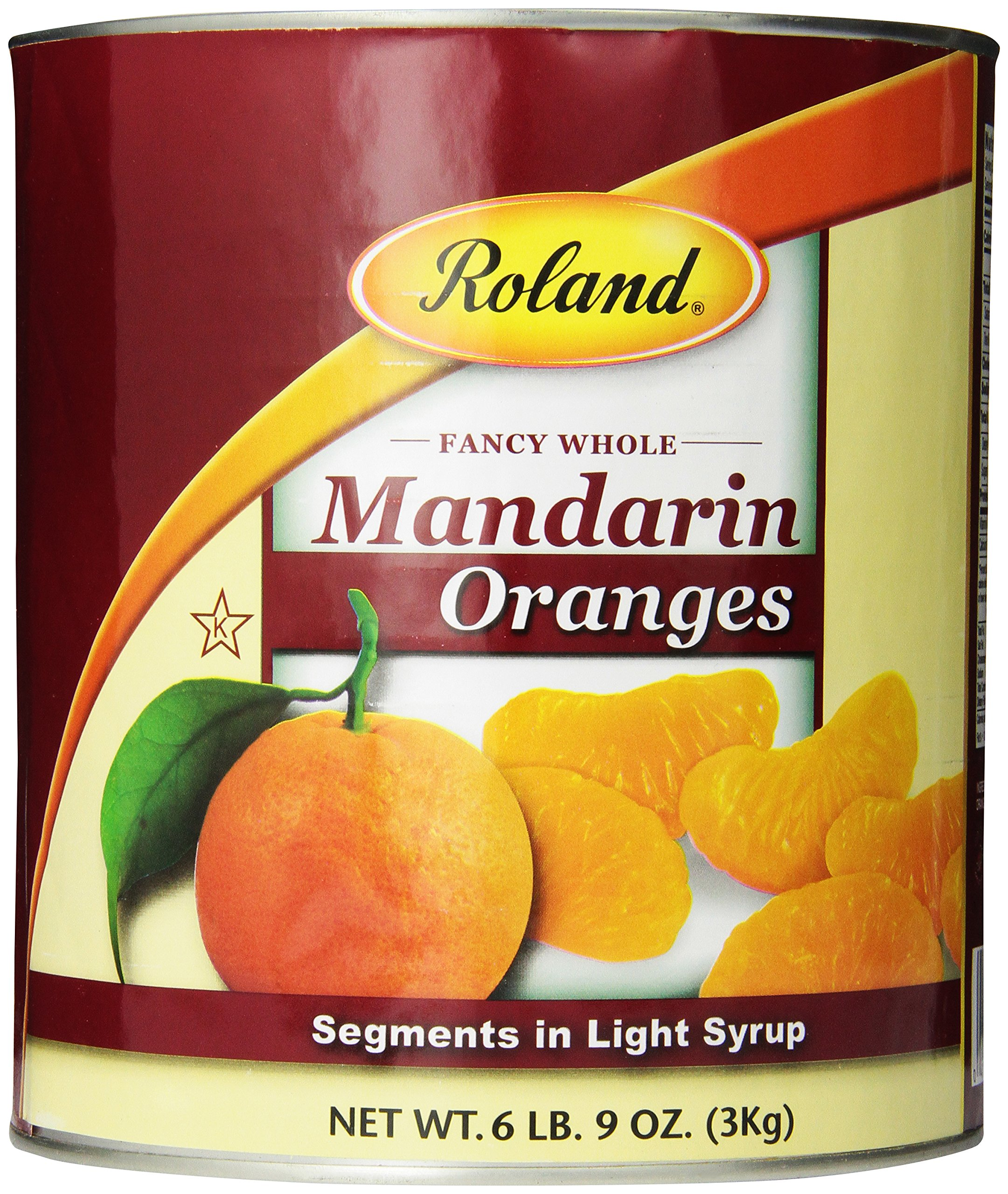 Roland Mandarin Oranges, Segments in Light Syrup, 6 lbs 9 Ounce (total 105oz)