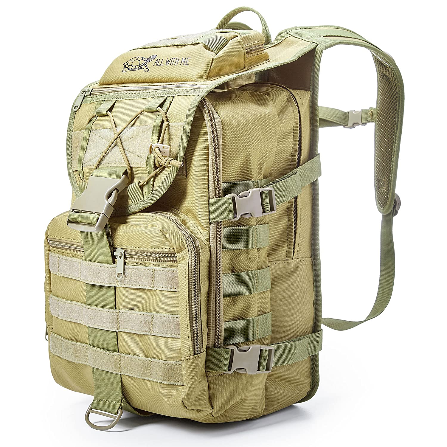 Military Tactical Backpack for Men Women - 40L Assault Pack Army Bag Molle Survival Backpack - Backpack for Hiking Camping Traveling - Laptop Backpack School Bag for Students – Dust Cover Included