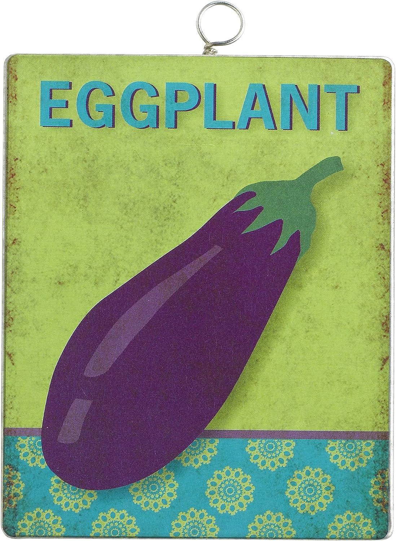 Grasslands Road Metal Eggplant Garden Marker Stake, 4-Inch, Set of 5