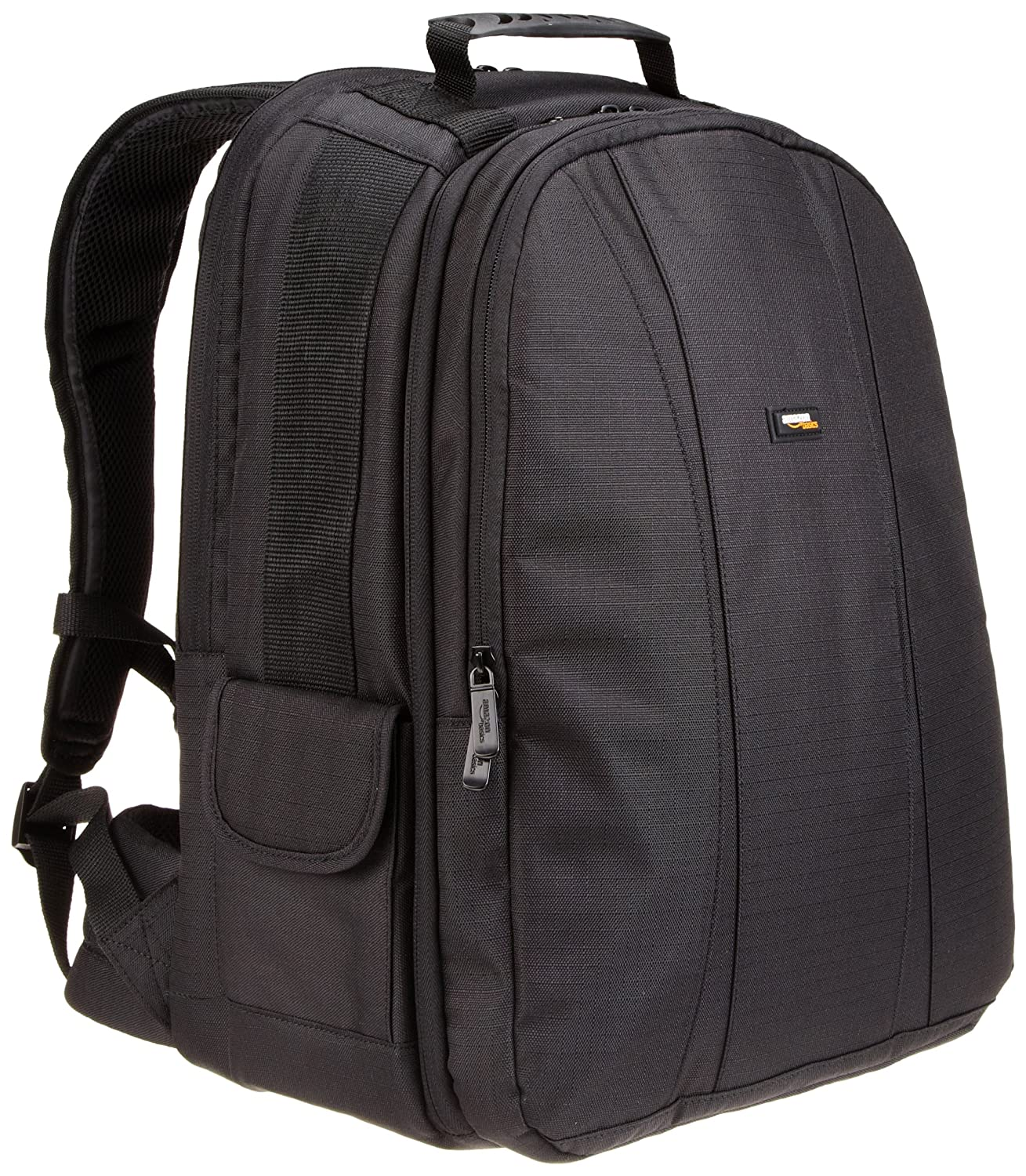 AmazonBasics DSLR and Laptop Backpack - Orange interior SM1303003B