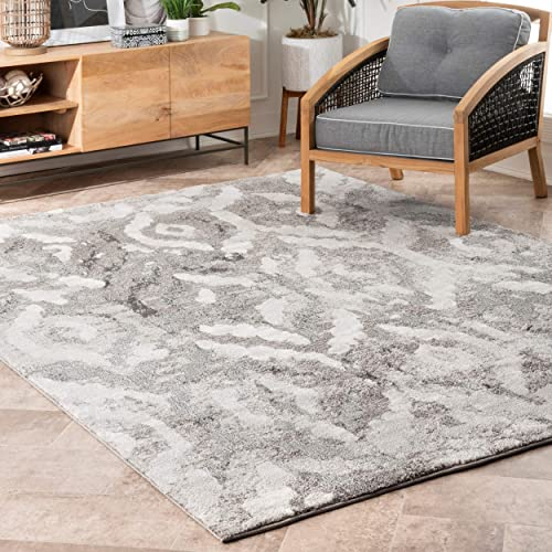 nuLOOM Elina Contemporary Abstract Area Rug, 8 x 10 , Grey