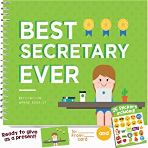 Best Secretary Ever Book - This 24-page Booklet Is The Perfect Thank You Gift - It Comes With Funny Quotes And Ingenious Designs To Make This The Most Original Appreciation Present For Secretary's Day