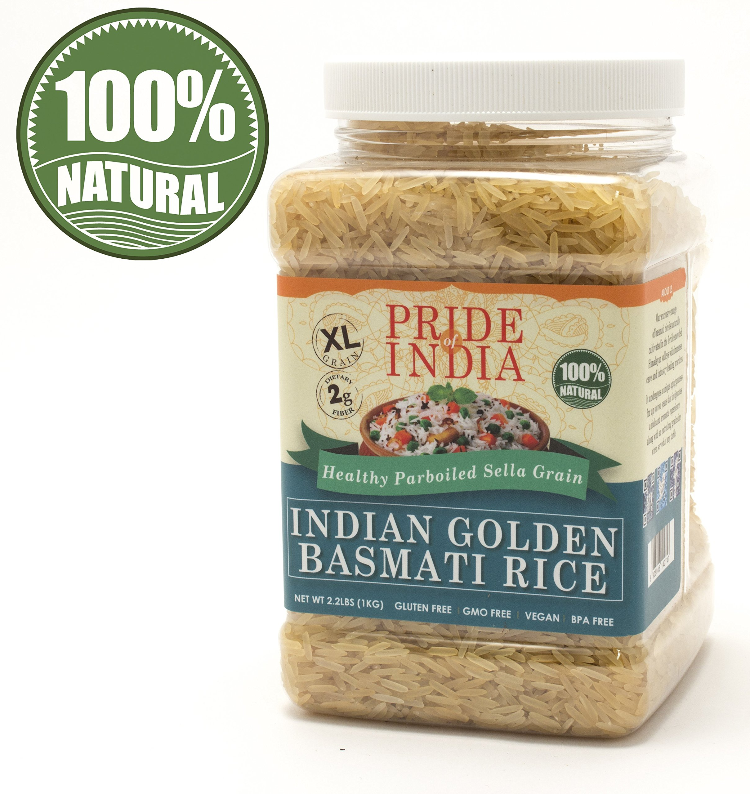 Amazon Com India Gate Parboiled Basmati Rice Bag Golden