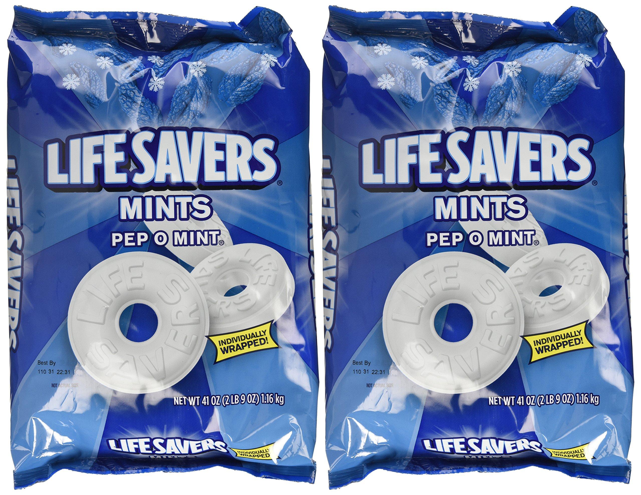 Life Savers, Pep-O-Mint Hard Candy, 41oz Bag (Pack of 2)