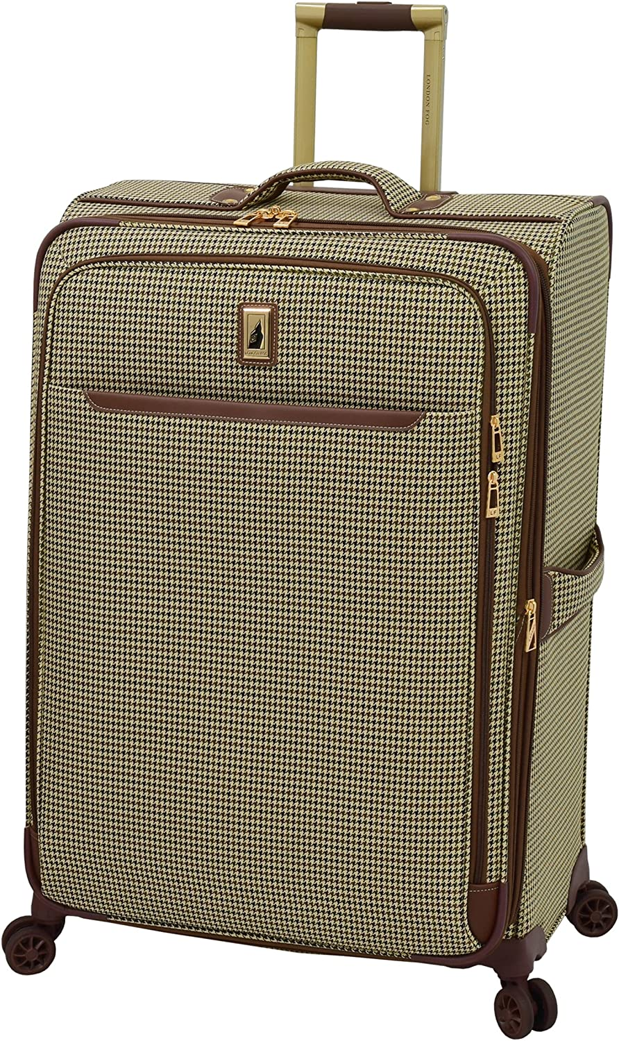 London Fog Cambridge II 29 Expandable Spinner, Olive Houndstooth