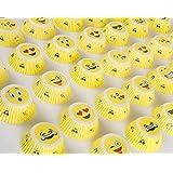 Emoji Liners Party Cupcake Holders - Emoji Birthday Party Favors, Emoji Cupcake Liners, Emoticon Muffin Wrappers, Emoji Bday Favors (40 Pc / 2 Emoji Styles Per Pack)
