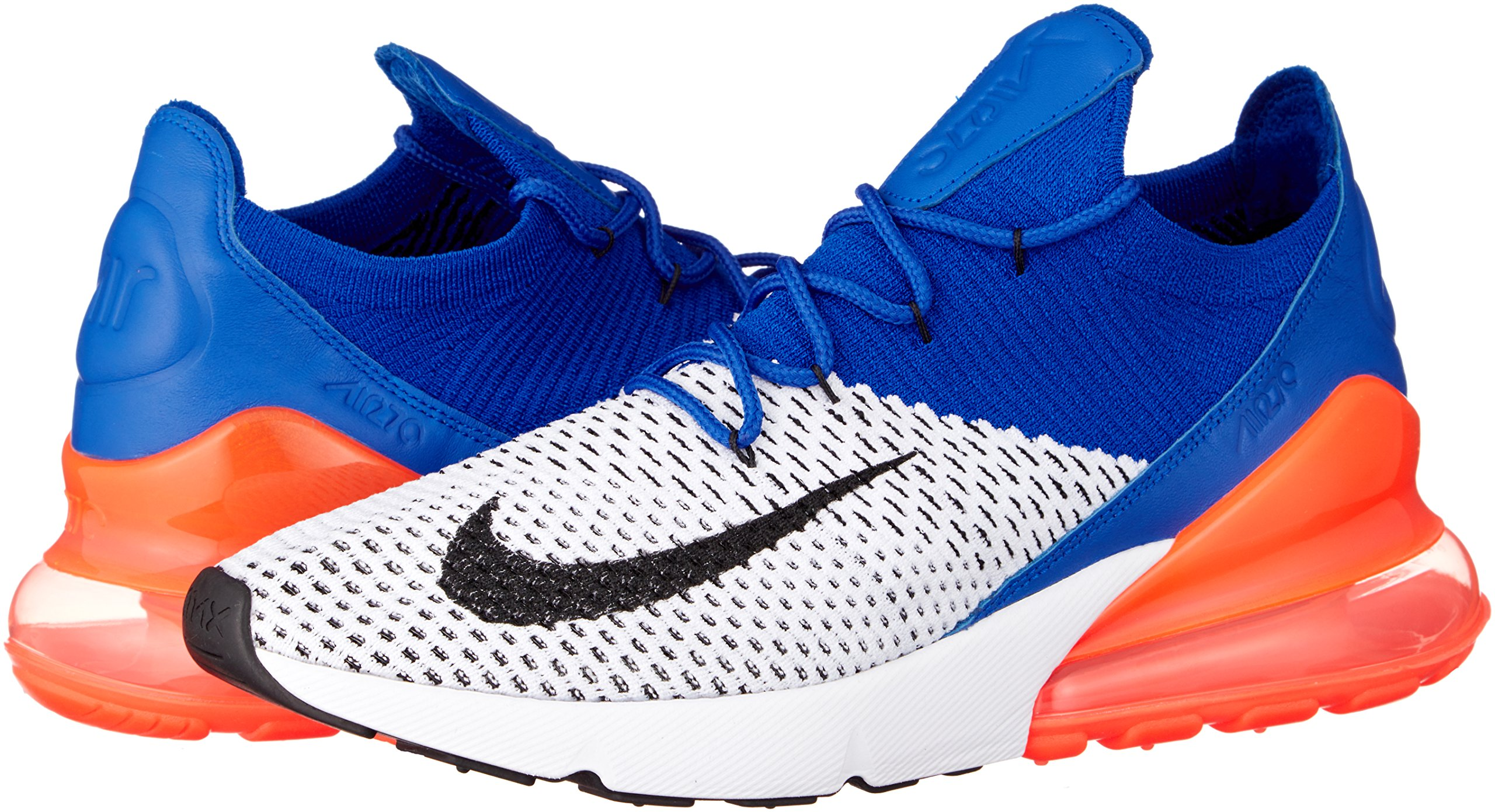 Nike Men's Air Max 270 Flyknit, White/Black-Racer Blue, 10.5 M US by Nike (Image #5)