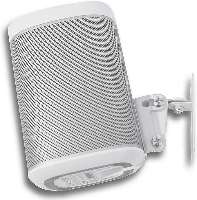 2 supporti per montaggio a parete inclinabile Supporto da parete per altoparlante Sonos One e Play:1 Boxe bianco girevole 2 coppie da 3 kg per gestione cavi