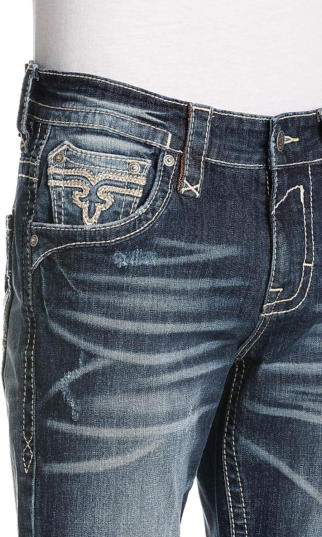 Rock Revival Mens Albus A208 Alt Straight Jeans