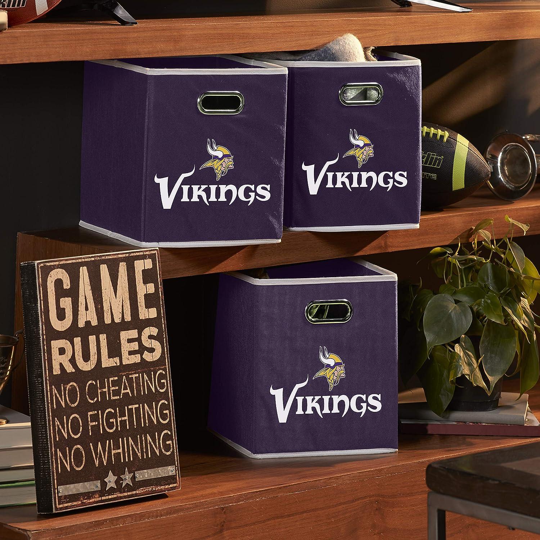 11x10.5x10.5 Made to Fit Storage Bin Organizers Franklin Sports NFL Team Fabric Storage Cubes