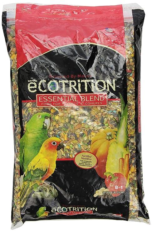 Ecotrition C2136 Essential Blend Diet Bird Food For Parrots, 8-Pound Bag  (C2136)