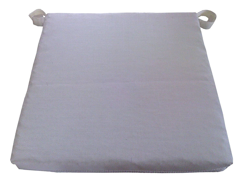 Maffei Art 860 Kissen aus hoher textile Technologie, ATMUNGSAKTIV, ABZIEHBAR, fuer Sitze, cm.40X40X3 . Made in Italy. Farbe Weiss. EXKLUSIV MAFFEI. Set x 4 Stk