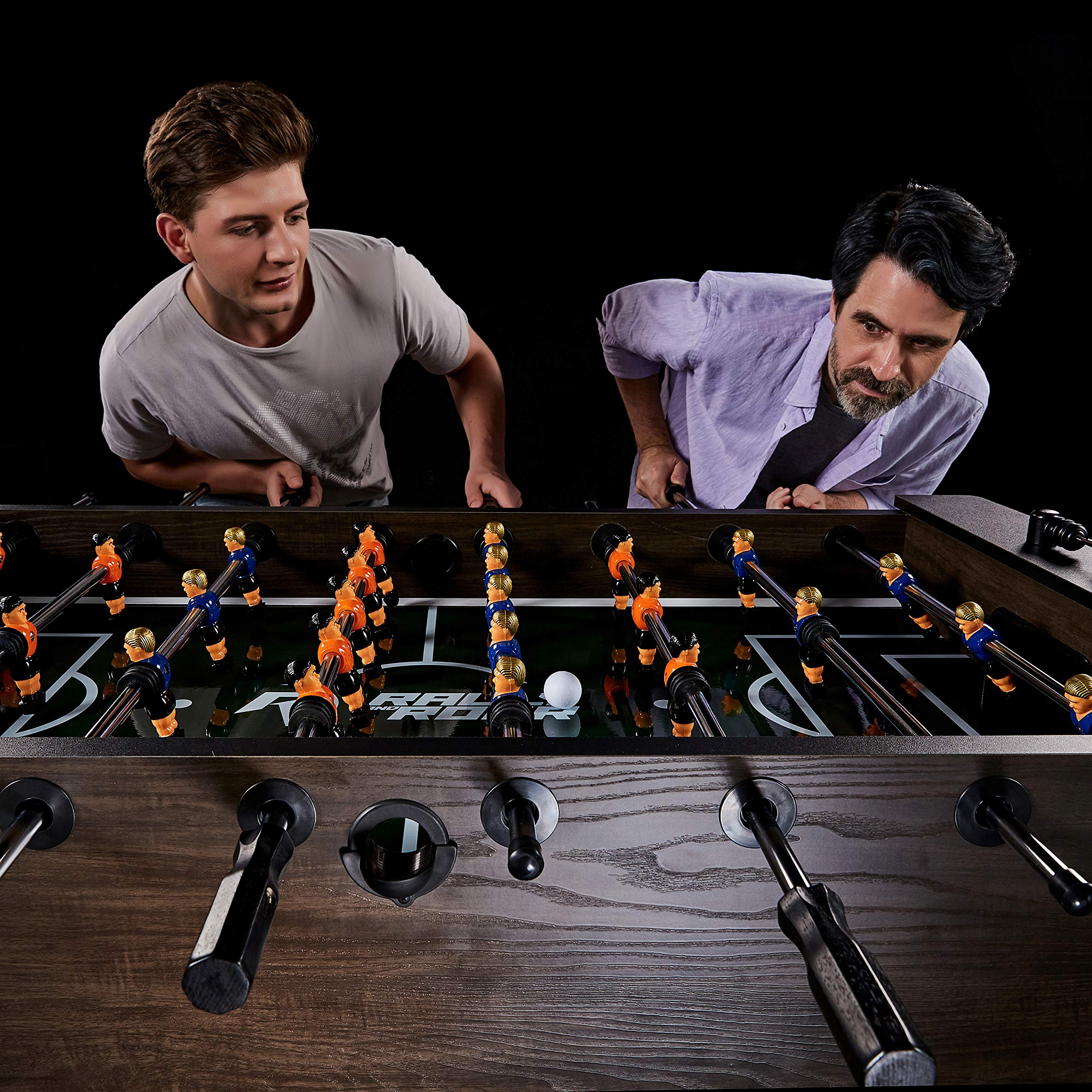 """Rally and Roar Foosball Table Game – 56"""" Standard Size Fun, Multi Person Table Soccer Adults, Kids - Recreational Foosball Games Game Rooms, Arcades, Bars, Parties, Family Night by Rally and Roar (Image #8)"""
