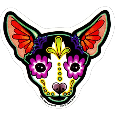 "Cali's Chihuahua, Officially Licensed Original Artwork, 4.5"" x 5"" - Sticker DECAL: Automotive"