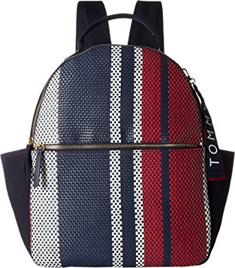 6c62b8a48de Tommy Hilfiger Women's Classic Tommy Woven PVC Dome Backpack Navy/Multi One  Size