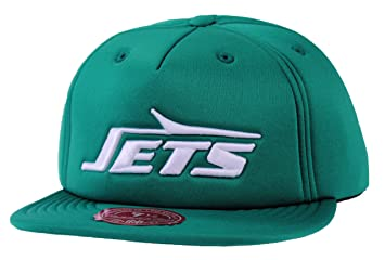 ... more photos a7421 03f98 Mitchell Ness NFL New York Jets Throwback Logo  Foam Fitted Hat 4c369c777