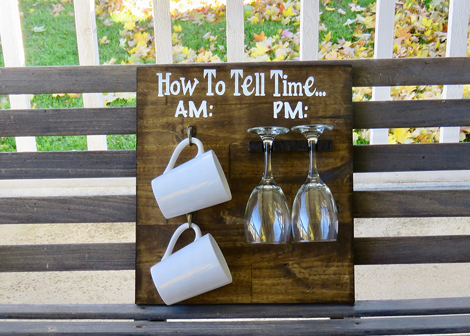 How To Tell Time AM PM, How To Tell Time, AM PM Wine Sign, Rustic Home Decor