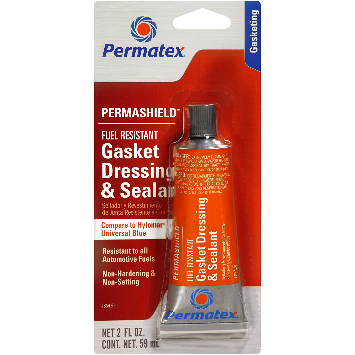 Permatex 85420 Permashield Fuel Resistant Gasket Dressing & Sealant, 2 oz Tube
