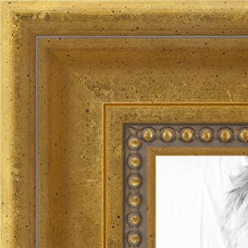 Amazoncom Arttoframes 24x30 Inch Antique Gold With Beaded