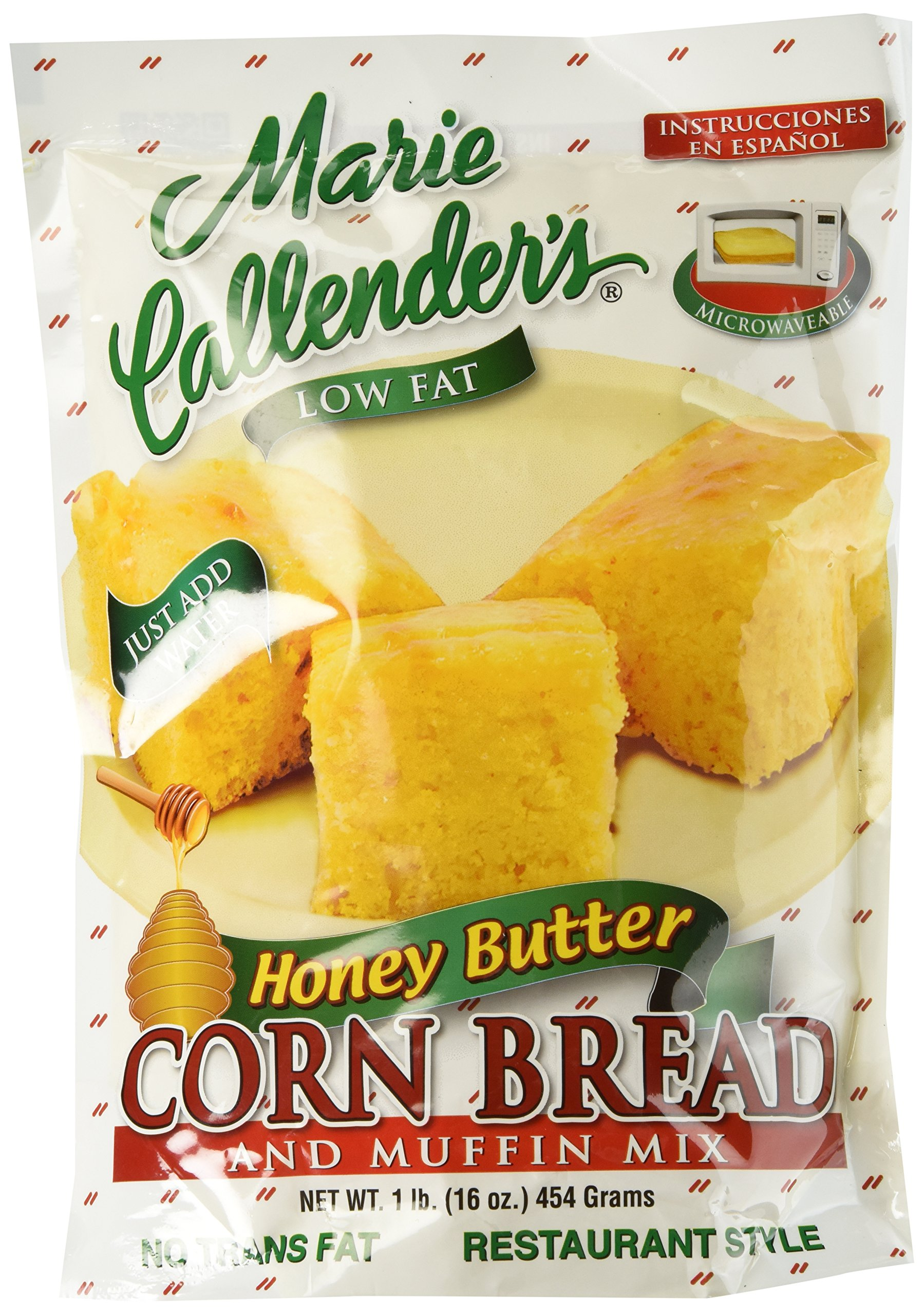 Marie Callender's Cornbread Mix, Honey Butter, 16oz Pouch (Pack of 3)