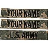 Custom 3 Piece ACU / UCP Name Tape with Velcro US Army