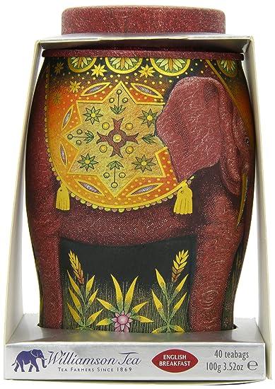 d9204c157 Amazon.com   Williamson English Breakfast Elephant Tea Caddy   Black ...