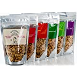 Spicy Peanut Mix - Bloody Mary Peanuts, Habanero Lime Peanuts, Thai Chili Coconut Peanuts, Southwest Jalapeno Cilantro Peanuts, Sweet Chipotle Peanuts, and Sriracha BBQ Peanuts by Nutzterz (6 Bags)