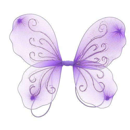 Zacs Alter Ego® Fancy Dress Glitter Butterfly Fairy Wings