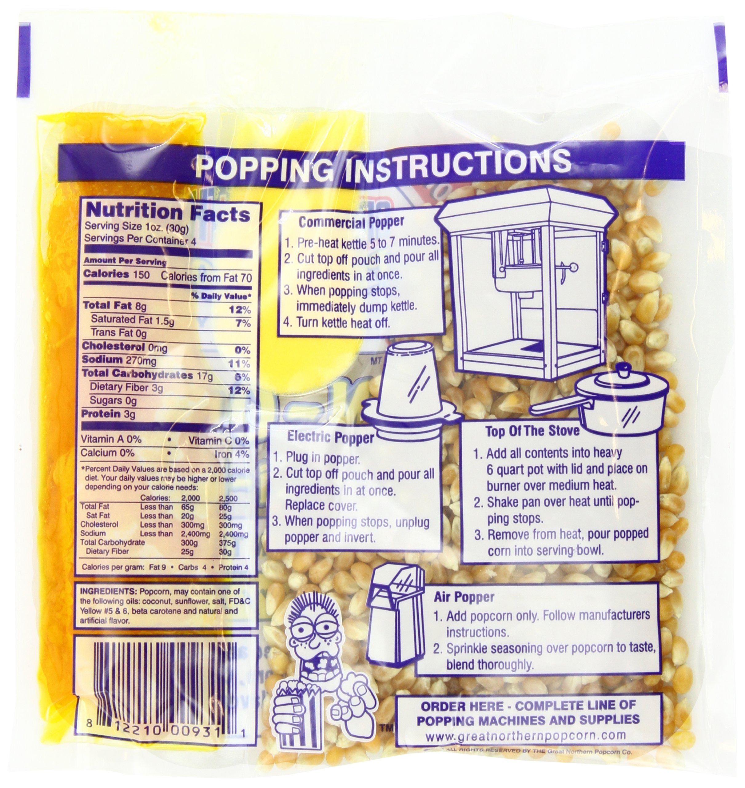 4100 Great Northern Popcorn 4 Ounce Premium Popcorn Portion Packs, Case of 24 by Great Northern Popcorn Company (Image #4)