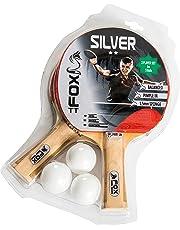 Fox TT Unisex Silver 2 Star Table Tennis Set, Red