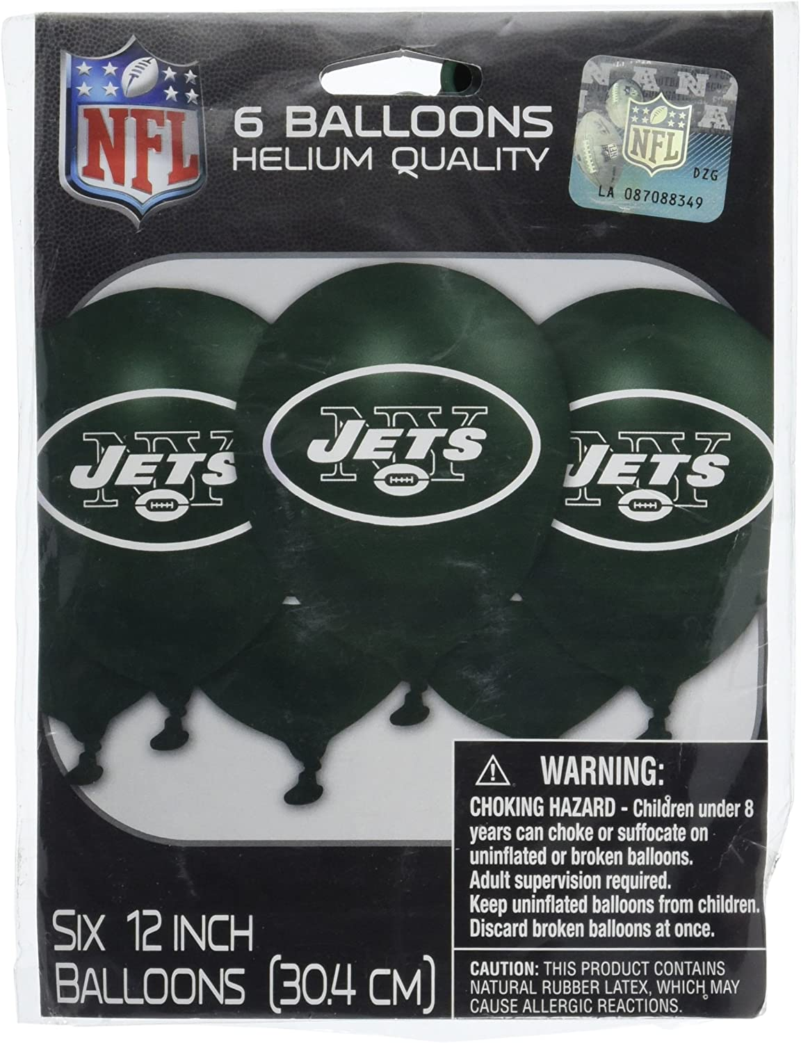 """""""New York Jets Collection"""" Printed Latex Balloons, Party Decoration"""