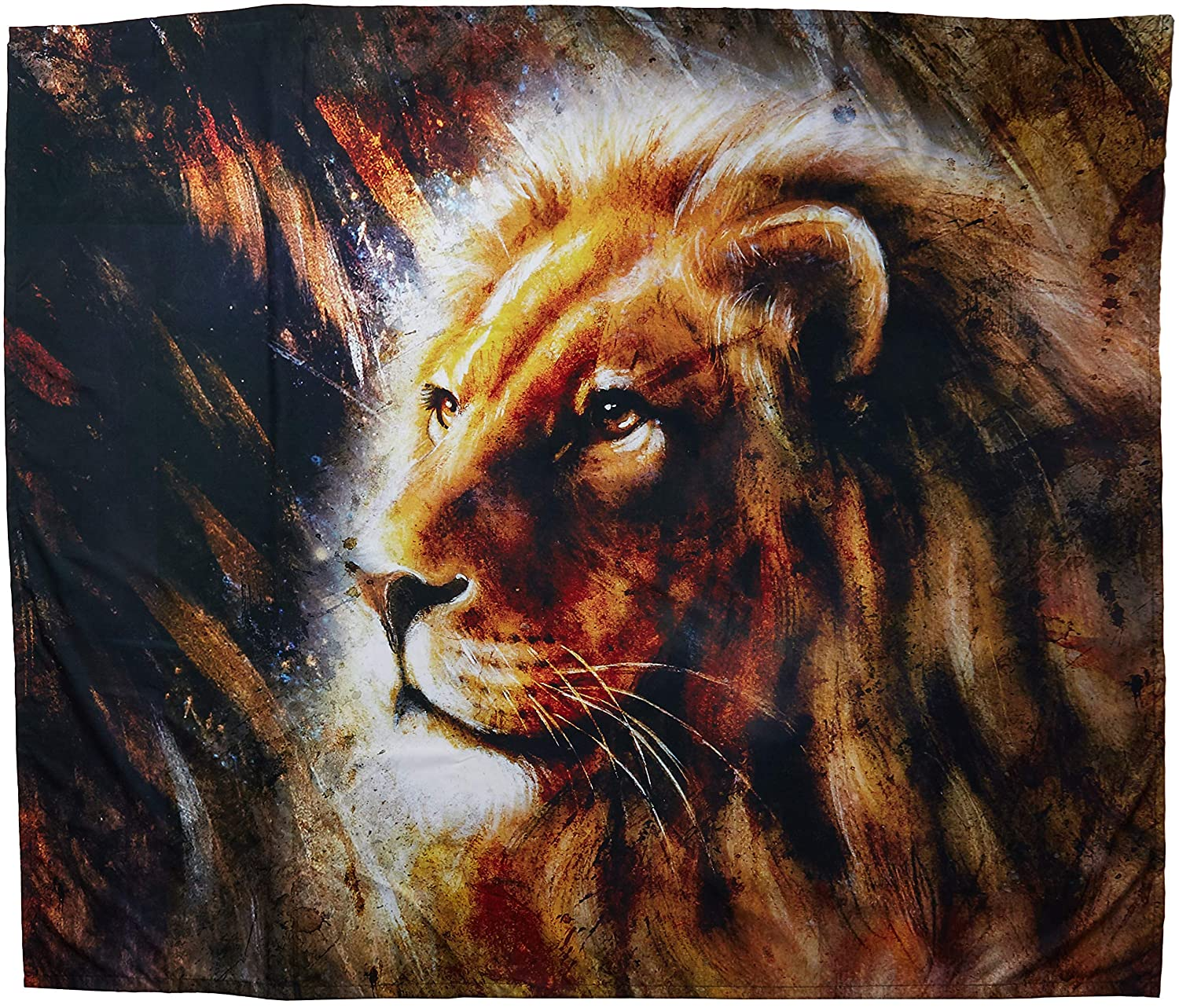 Room and Office D/écor Wall Tapestry 50 x 60 Created On Lightweight Polyester Fabric Design Art Designart TAP6039-60-50 Majestically Peaceful Lion Animal Landscape Hanging Art Decoration for Home