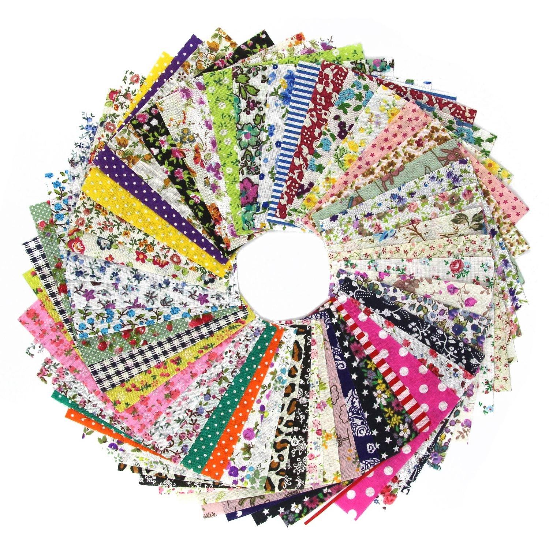 TOOGOO DIY 60 pz trapuntatura Patch 10cmx10cm fascino confezione di cotone tessuto patchwork di tessuti fascio cucire stoffa