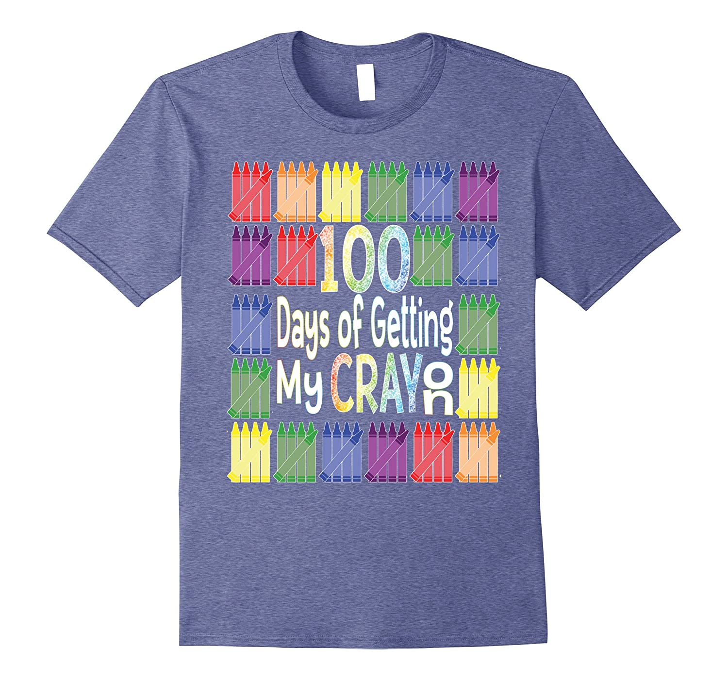 100 Days of School Get My Cray On Tshirt-TH