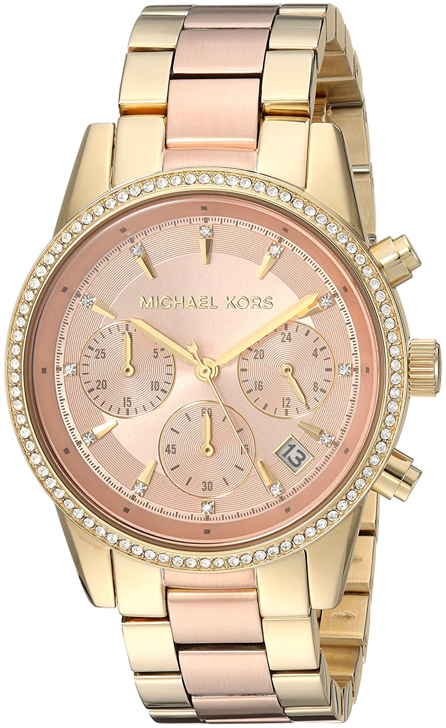 Amazon Michael Kors Womens Ritz Gold Tone Watch Mk6475