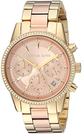 44a693c63956 Amazon.com  Michael Kors Women s Ritz Gold-Tone Watch MK6475 ...