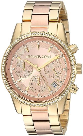 73b3f69e23a1 Michael Kors Women s Ritz Gold-Tone Watch MK6475  Michael Kors ...