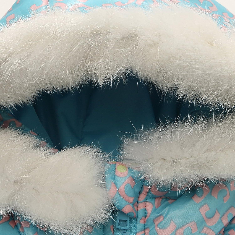 Richie House Big Girls Down Jacket with Fake Fur Hood Rh1297