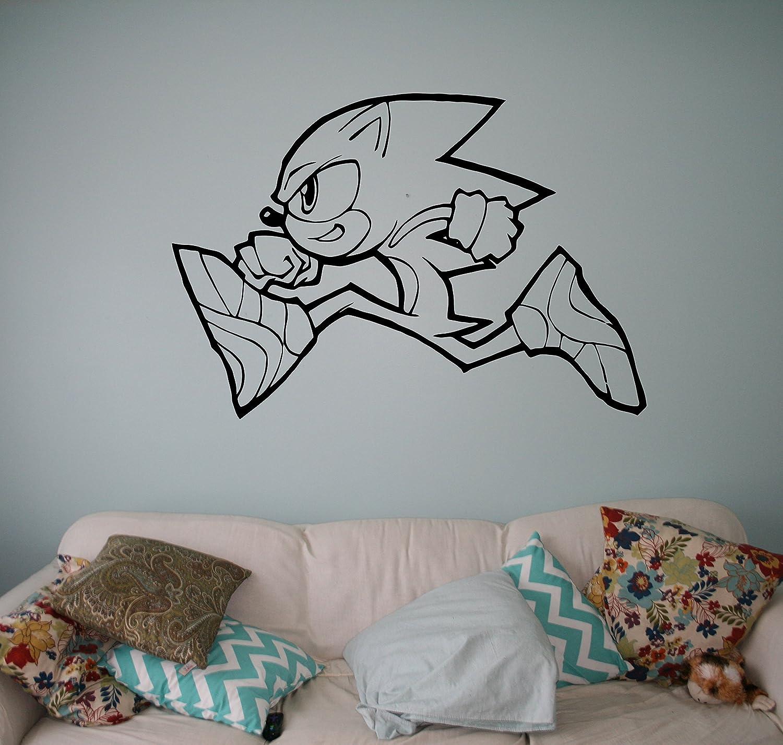 Amazon.com: Sonic Vinyl Decal Sonic Hedgehog Wall Vinyl Sticker Video Game  Cartoons Home Interior Children Kids Room Decor 3(snc): Toys U0026 Games