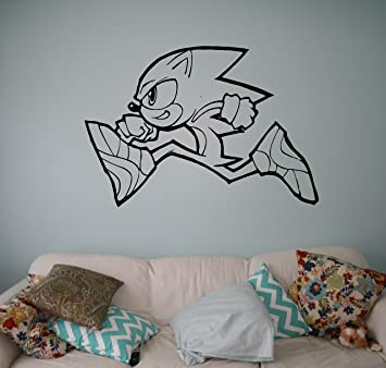 Sonic Vinyl Decal Sonic Hedgehog Wall Vinyl Sticker Video Game Cartoons  Home Interior Children Kids Room Part 63
