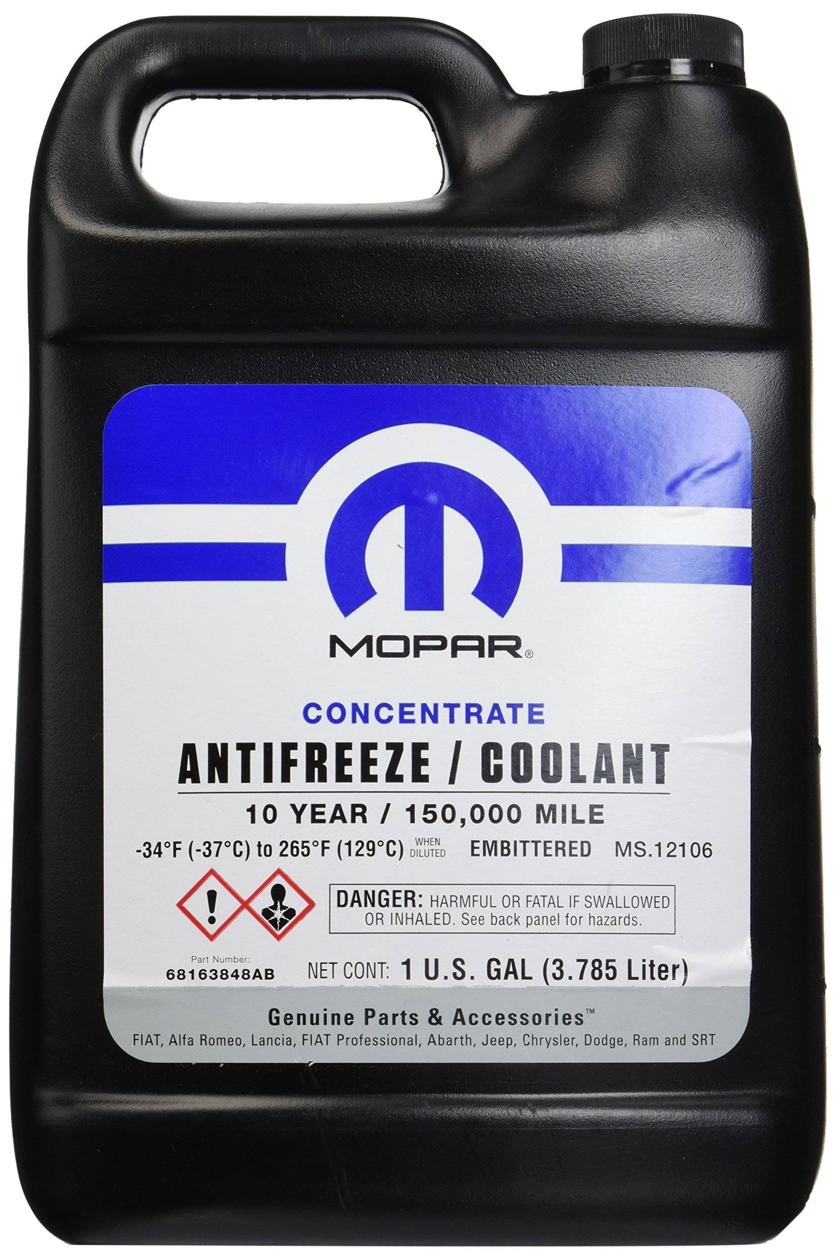 Genuine Chrysler 68163848AB Coolant Antifreeze