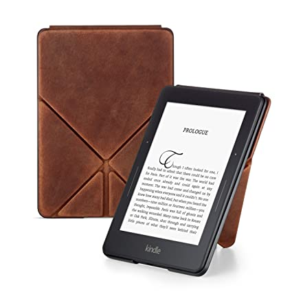 Amazon Device Accessories Amazon Devices & Accessories Limited Edition Premium Leather Origami Cover for Kindle Voyage
