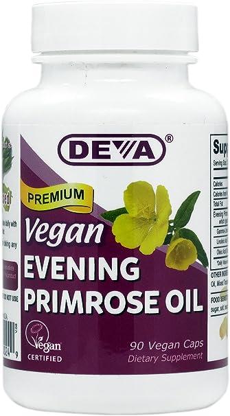 d0ec786ada8 Amazon.com  DEVA Vegan Vitamins Vegan Evening Primrose Oil Vcaps
