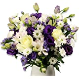 Fresh Flowers Delivered Next Day - FREE UK Delivery & Handwritten Card - Beautiful Blue Bouquet of Flowers - Arranged by a Skilled Florist and Presented in Luxury Packaging - Great Birthday, Thank You, Get Well, Anniversary or Sympathy Gift
